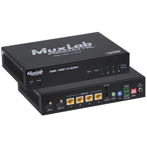 MuxLab UHD HDMI over HDBaseT 1X4 Splitter with HDCP (EU Region)