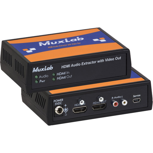 MuxLab HDMI Audio Extractor with Dolby & DTS Downmixer
