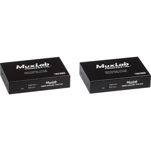 MuxLab UHD-4K HDMI over HDBaseT Lite Receiver with PoE