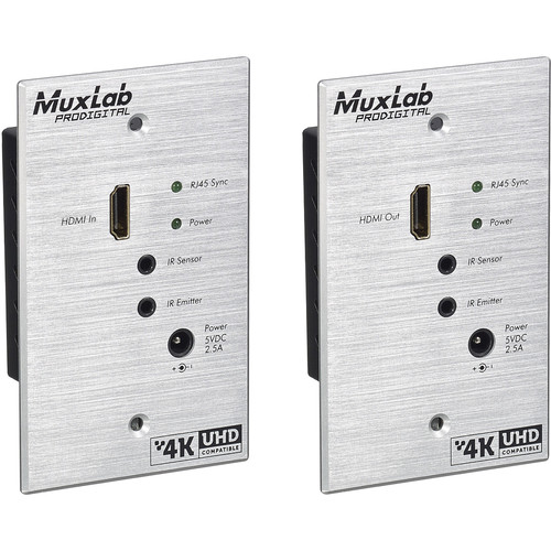 MuxLab 500451-WP-UK-TX HDMI Transmitter for UK Wallplate