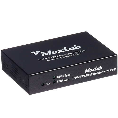 MuxLab HDMI / RS-232 Receiver with PoE
