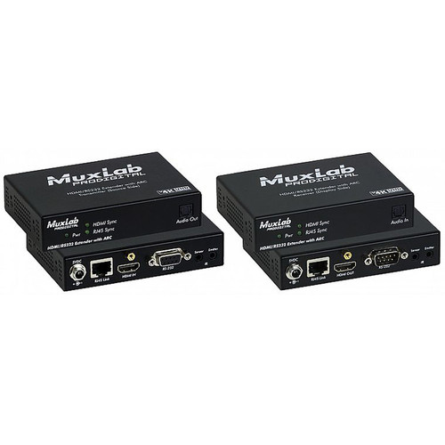 MuxLab 4K HDBaseT HDMI/RS-232 Extender Kit with ARC