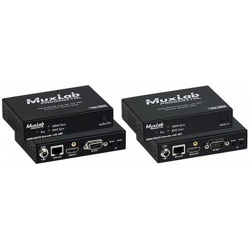 MuxLab 4K HDBaseT HDMI/RS-232 Extender Kit with ARC