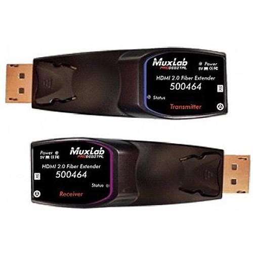 MuxLab HDMI 2.0 Fiber Extender Kit