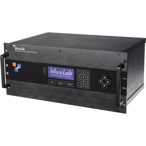 MuxLab Multimedia 16x16 Matrix Switch Chassis