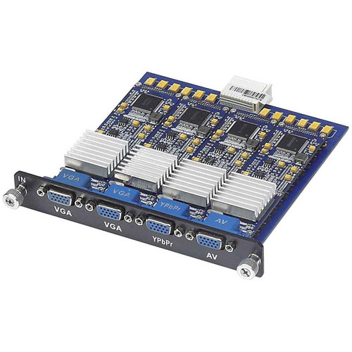 MuxLab 4-Channel VGA Input Card for Multimedia 16 x 16 Matrix Switch
