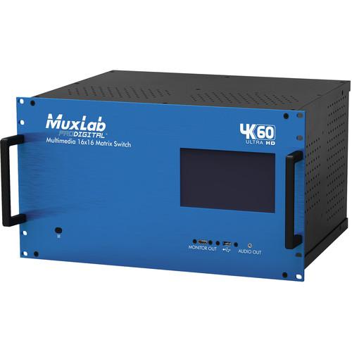 MuxLab 4K60 Multimedia 16x16 HDMI 2.0 4K Matrix Switch (US)