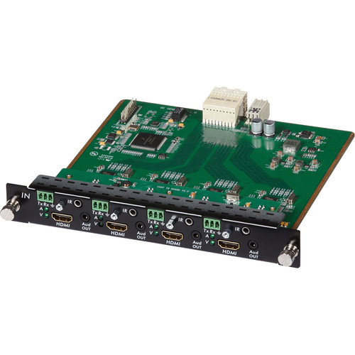 MuxLab 4 Channel HDMI/RS232 Input Card 4K UHD for 16x16 Modular Matrix