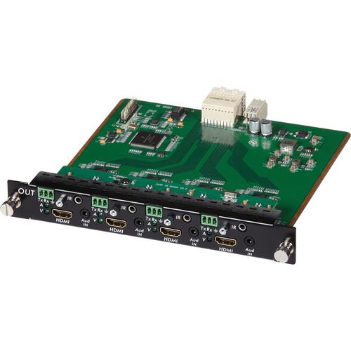 MuxLab 4 Channel HDMI/RS232 Output Card 4K UHD for 16x16 Modular Matrix