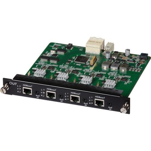 MuxLab 4 Channel HDBT Output Card PoE 4K UHD for 16x16 Modular Matrix