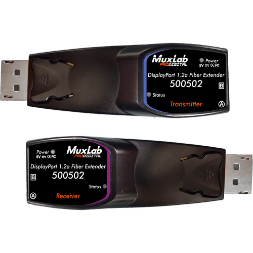 MuxLab DisplayPort 1.2a WQUXGA Fiber Extender Kit (330')