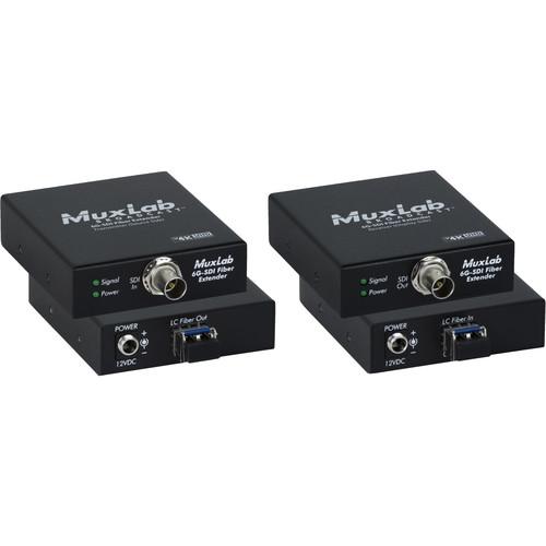 MuxLab 6G-SDI over Single-Mode LC Fiber Extender Kit (60,000')