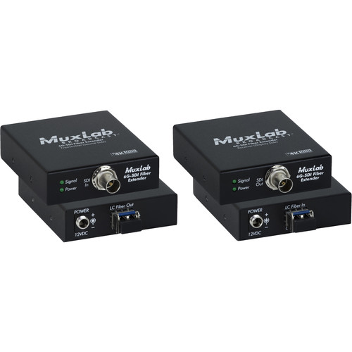MuxLab 6G-SDI over Single-Mode LC Fiber Extender Kit (60,000')