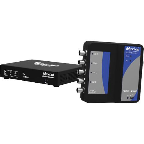 MuxLab Broadcast 6G-SDI 4K Extender over UTP (Black)