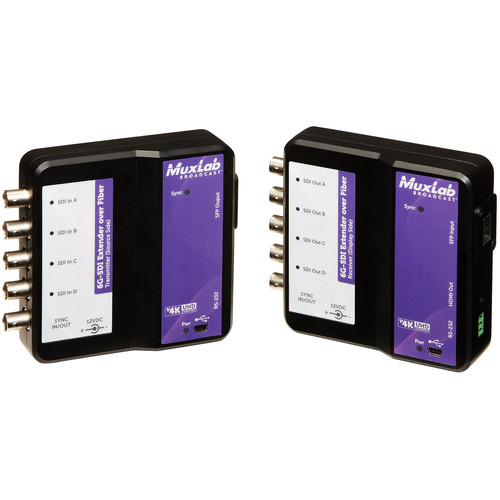 MuxLab 6G-SDI over Single-Mode Fiber Extender Kit (132,000')