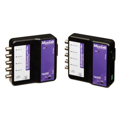 MuxLab 6G-SDI over Single-Mode Fiber Extender Kit (264,000')