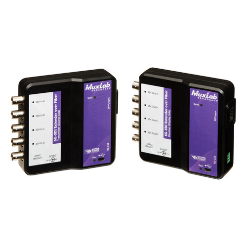 MuxLab 6G-SDI over Single-Mode Fiber Extender Kit (264,000')