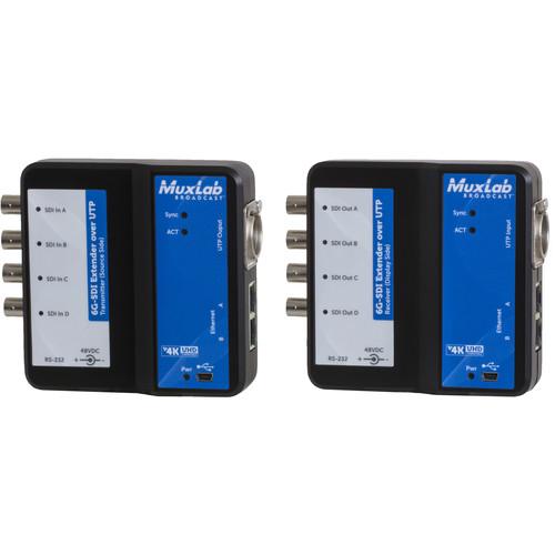 MuxLab 6G-SDI Extender over UTP Cat5e/6 with Ethernet (330')