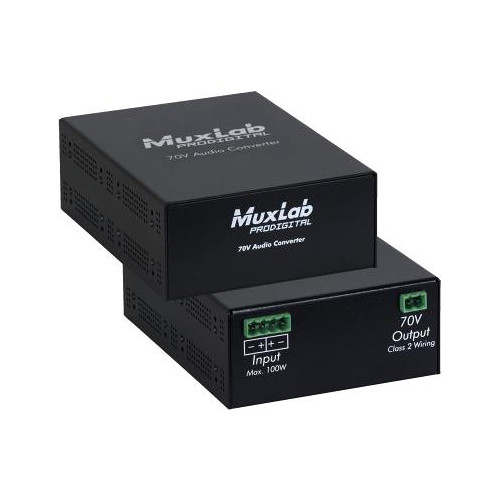MuxLab 70V Passive Audio Converter for Speaker Systems
