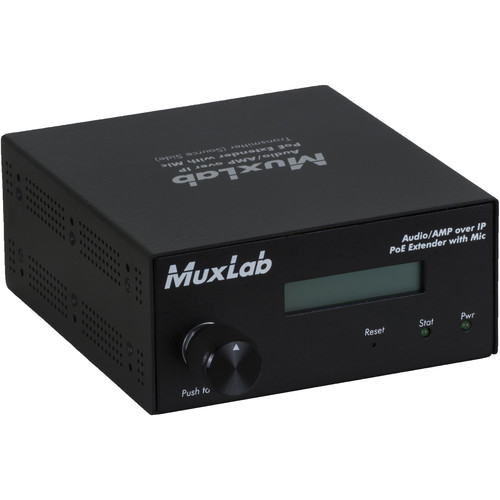 MuxLab Audio/AMP over IP Extender Transmitter with Microphone Input