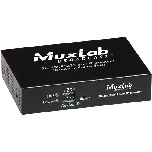 MuxLab 3G-SDI Over IP Receiver Unit with PoE