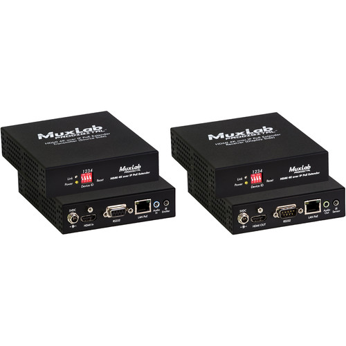 MuxLab ProDigital HDMI 4K over IP PoE Extender Kit