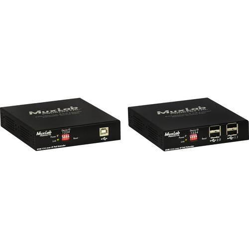 MuxLab KVM HDMI over IP PoE Extender Kit (330')