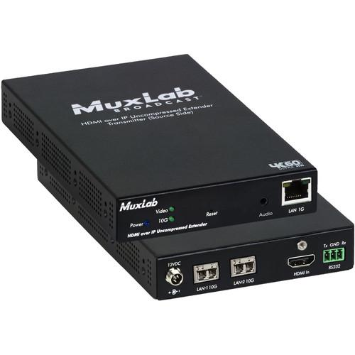 MuxLab 4K HDMI/ST 2110 over IP Uncompressed Multimode Fiber Transmitter