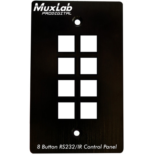MuxLab 8-Button RS232/IR Control Panel