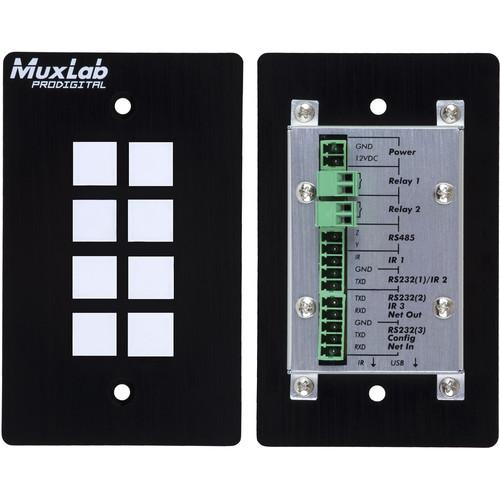 MuxLab 500816-IP 8-Button IP PoE Control Panel