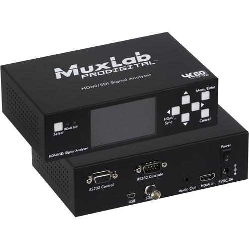 MuxLab HDMI 2.0/3G-SDI Signal Analyzer
