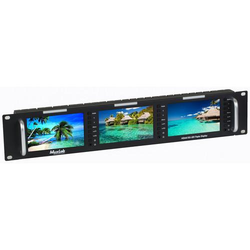 """MuxLab 5"""" HDMI/3G-SDI Triple Display Monitor"""
