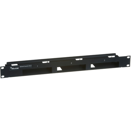MuxLab 1U Rack-Mountable Transceiver Chassis (Black)