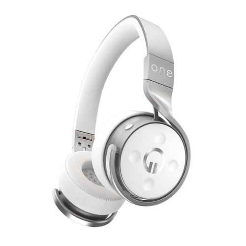 Muzik One Wireless Bluetooth Headphones (Silver/White)