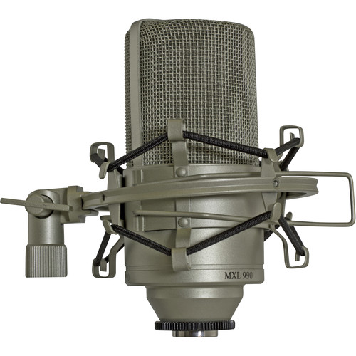 MXL 990 Condenser Microphone with Shockmount and Carrying Case (Champaign)