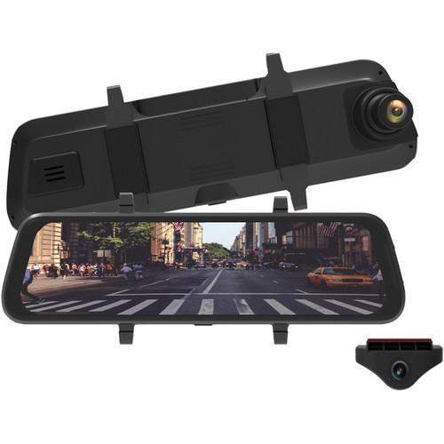 myGEKOgear Infiniview Lite 1080p Dash Camera with Touchscreen Mirror Display, Backup Camera & 16GB microSD Card