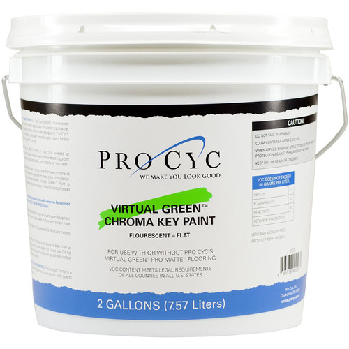 Pro Cyc Virtual Green Chroma Key Paint (2 Gallons)