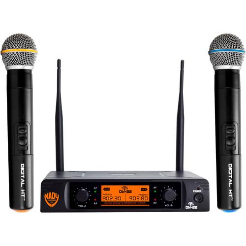 Nady DW-22 HTHT Digital Wireless Microphone System (Dual Handheld Mics)