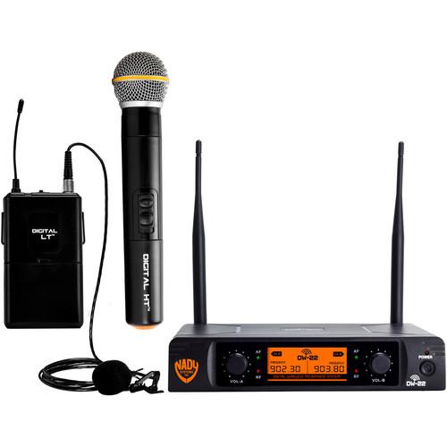 Nady DW-22 HTLT Digital Wireless Microphone System (Handheld & Lapel Mics)