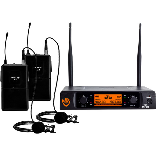 Nady Nady DW-22 LTLT Digital Wireless Microphone System (Dual Lapel Mics)