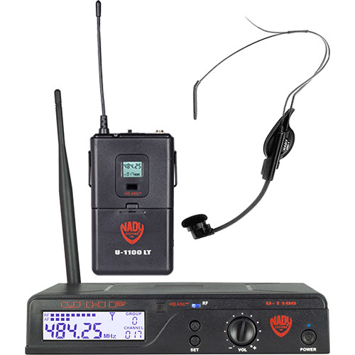 Nady U-1100/HM-1 UHF Unidirectional Condenser Wireless System with 1 x HM-1 Headworn Microphone