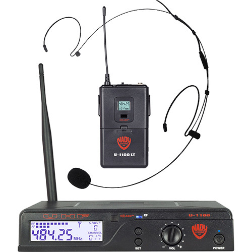 Nady U-1100/HM-20U UHF Unidirectional Condenser Wireless System with 1 x HM-20U Headmic Headworn Condenser Microphone
