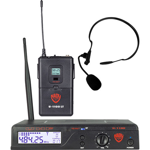 Nady U-1100/HM-3 UHF Omnidirectional Condenser Wireless System with 1 x HM-3 Headworn Microphone