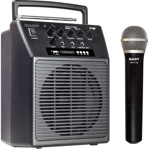 Nady WA-120BT VHF Portable Wireless PA Full-Range Bluetooth Speaker System (A: 171.905 MHz)