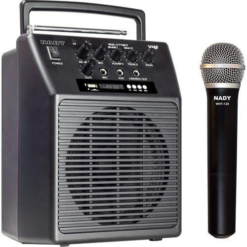 Nady WA-120BT VHF Portable Wireless PA Full-Range Bluetooth Speaker System (B:185.15 MHz)