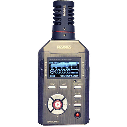 Nagra SD Handheld Digital Audio Recorder & Clip-On Stereo Microphone Kit