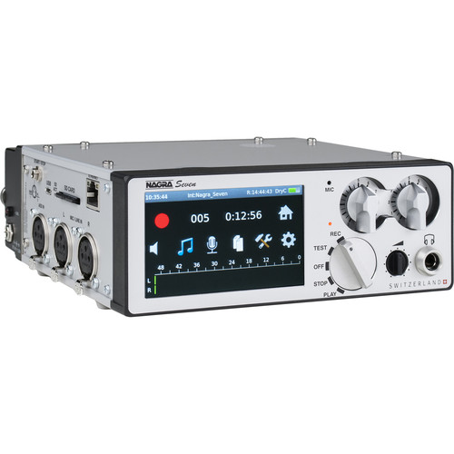 Nagra Seven Portable Digital Recorder (2-Channel) with Internal I.S.D.N. Codec and Audio Compression (Wi-Fi/4G)
