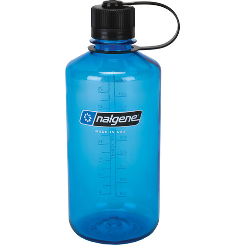 Nalgene Narrow Mouth Bottle (32 fl oz, Slate with Black Cap)