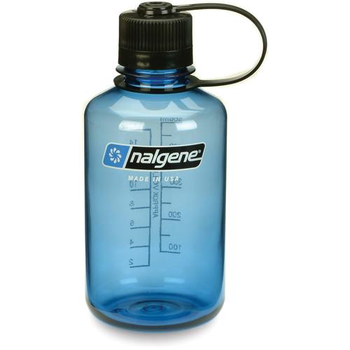 Nalgene Narrow Mouth Bottle (16 fl oz, Slate with Black Cap)