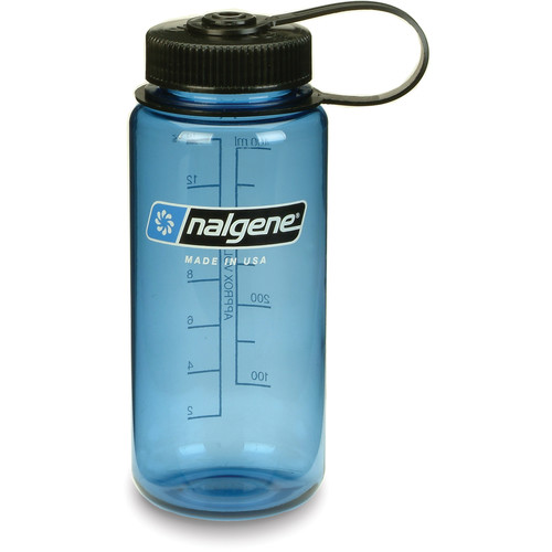 Nalgene 2178-1116 Wide Mouth Bottle (16 oz, Slate with Black Cap)